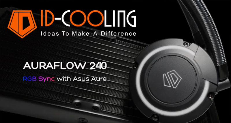 Watercooling Id-cooling Auraflow Rgb 240mm  Compatible con mother Asus Strix Gaming !